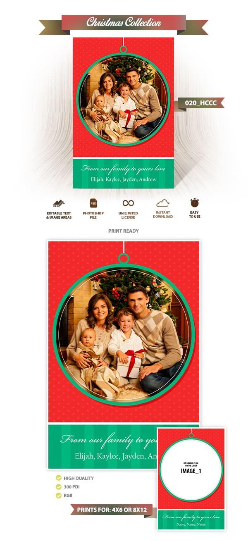 Christmas Card Template 020