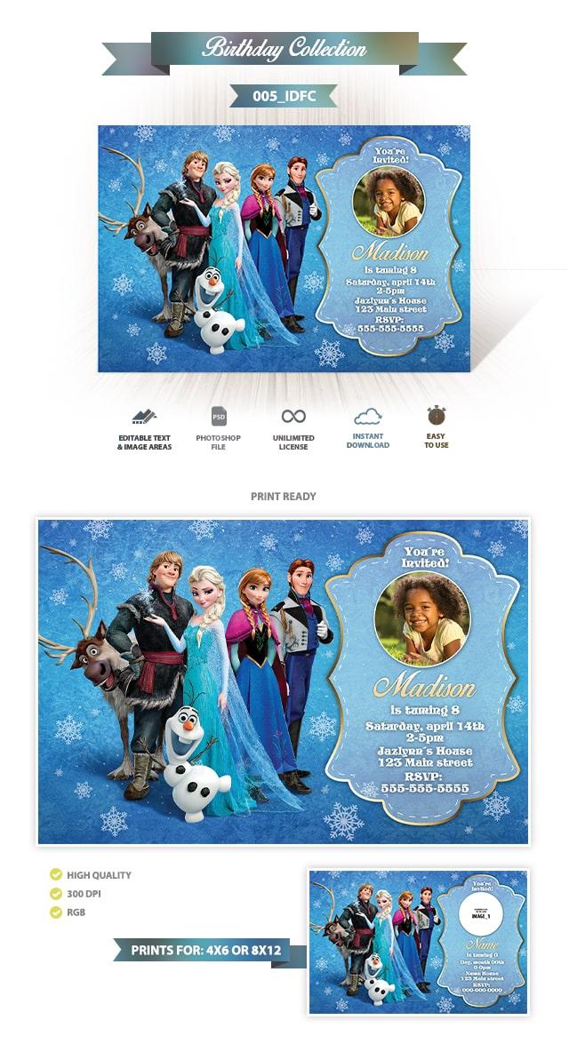 Frozen Invitación Diseño 005