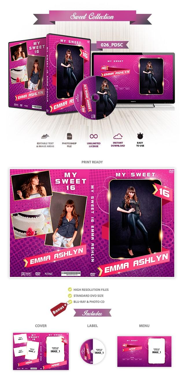 Sweet 16 Invitation Design 026