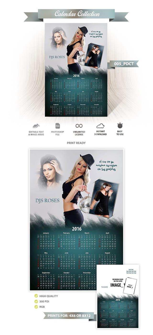 Calendar Psd Template Design 005