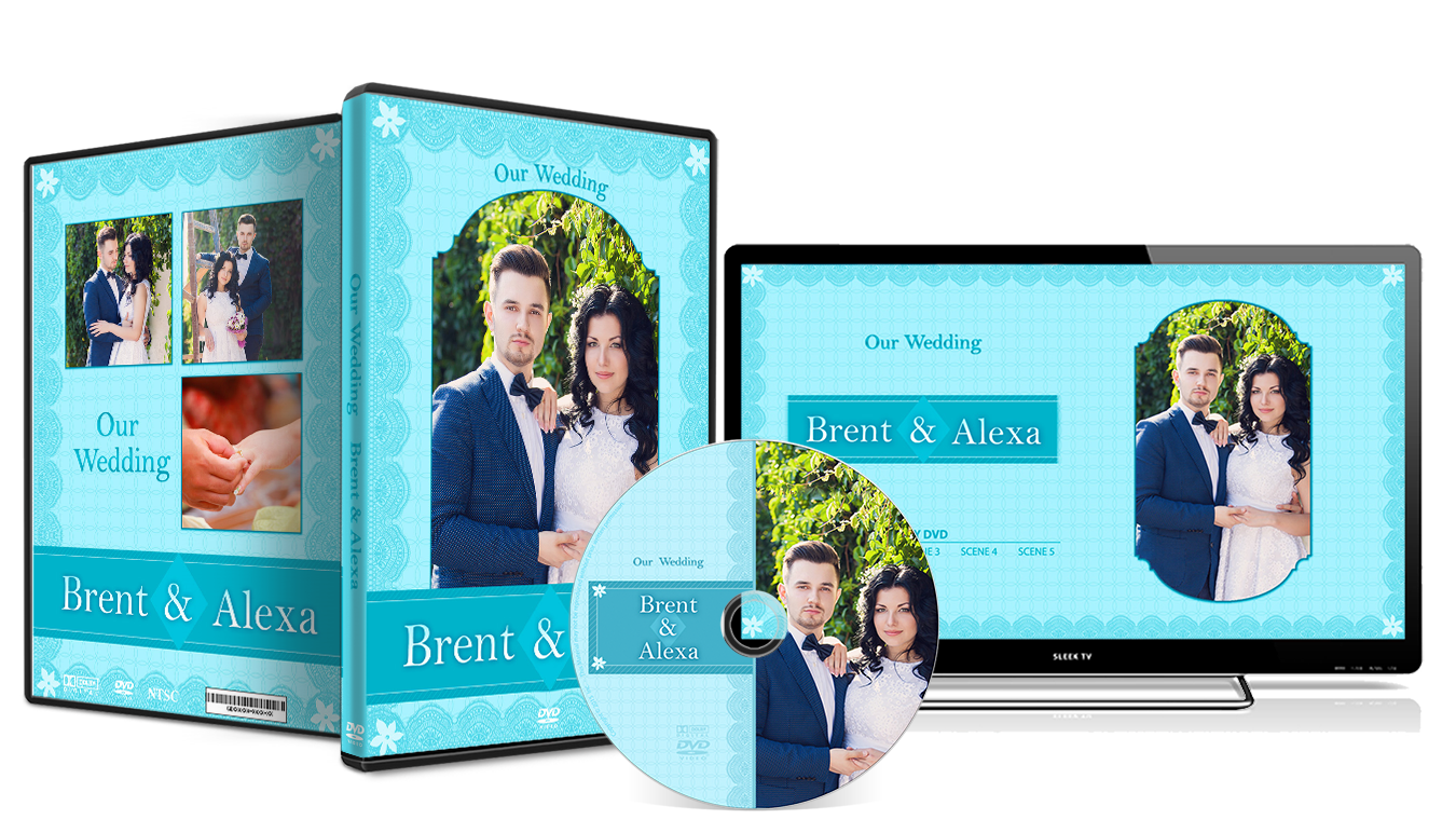 Wedding Dvd Cover 040 Photoshop Psd Template