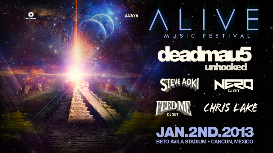 blog announcing alive music festival in cancun, mexico