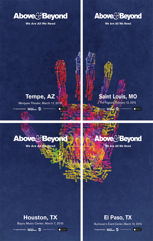 Announcing the Above & Beyond 'We Are All We Need' Tour Poster ...