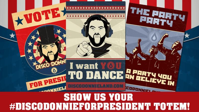 blog enter the #discodonnieforpresident totem contest