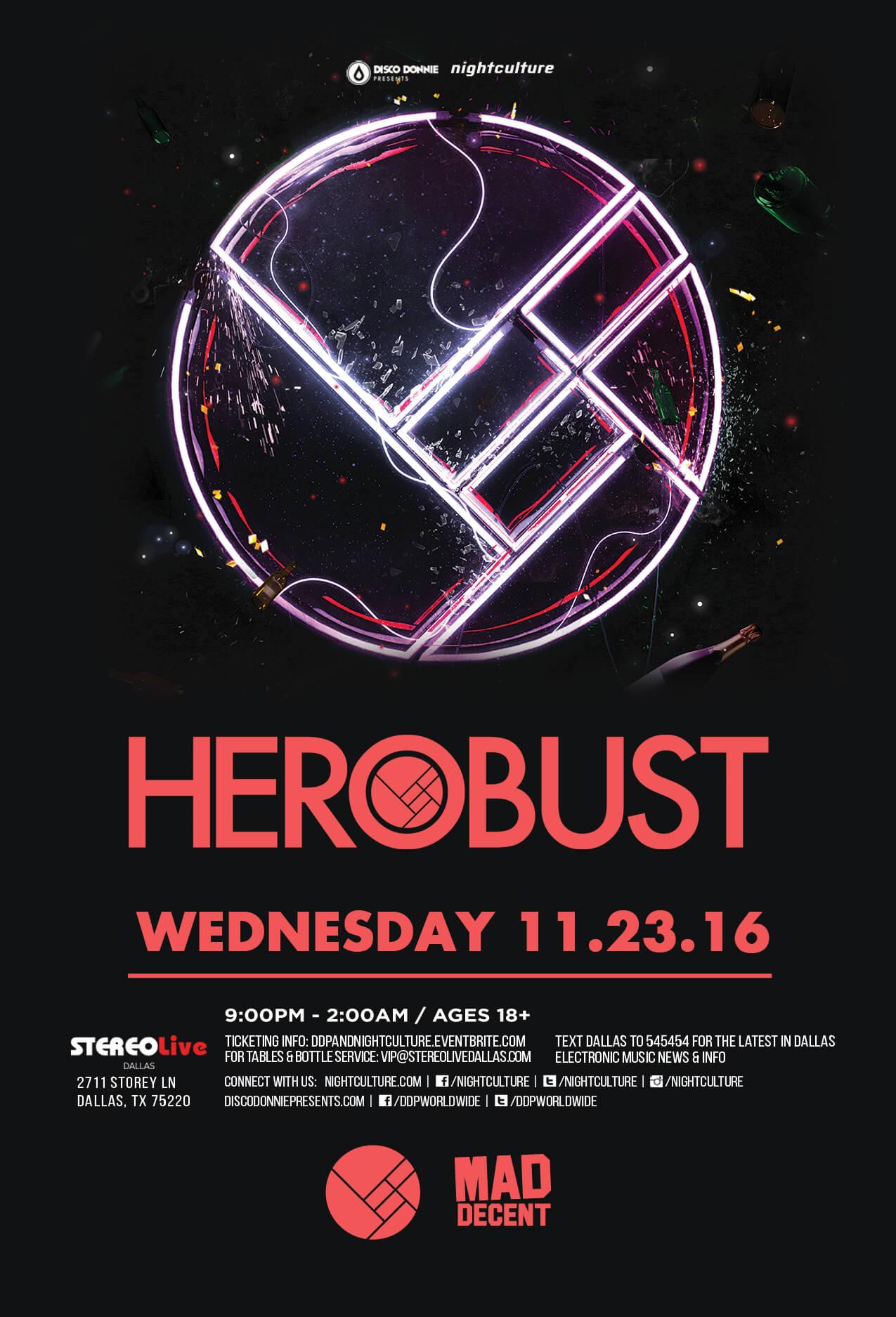 Herobust at Stereo Live Dallas