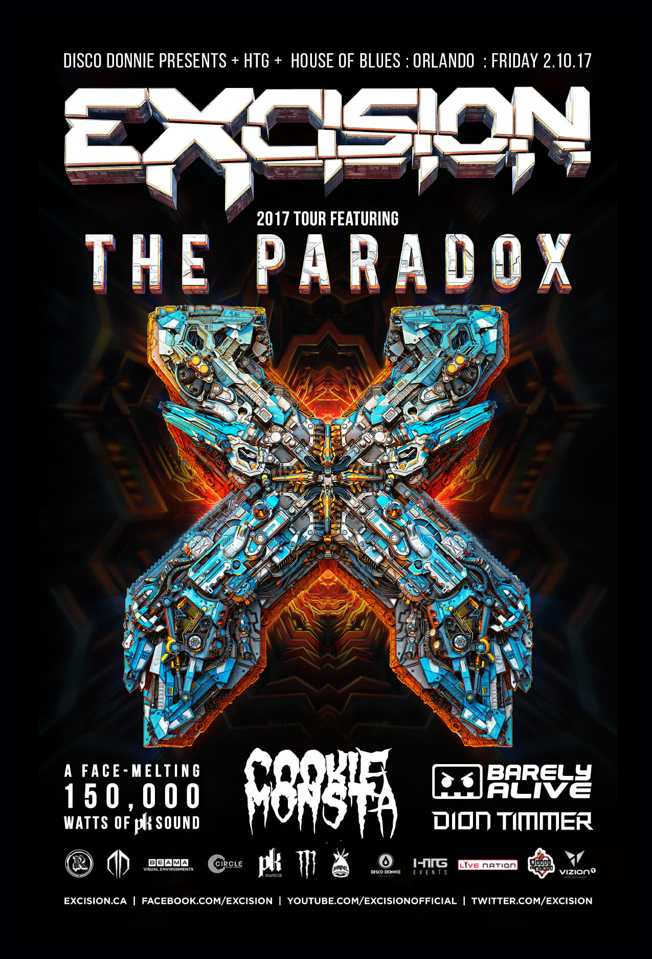 excision, cookie monsta, barely alive, dion timmer at house of