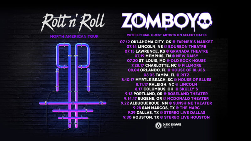 zomboy rott n roll north american tour