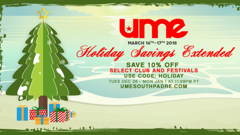 ume holiday sale extended