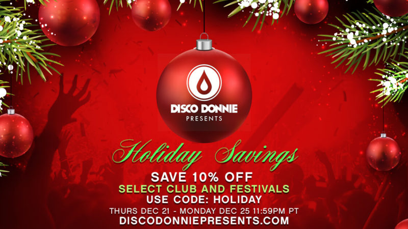holiday sale for 10% off tickets