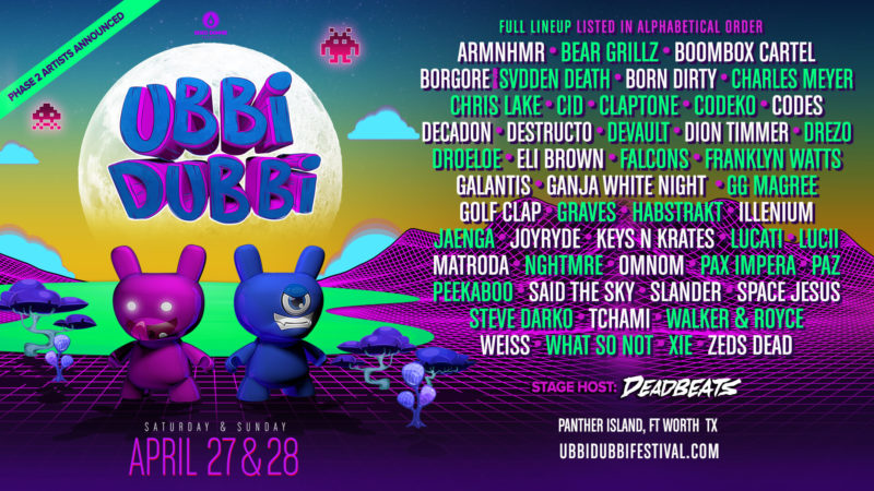 ubbi dubbi festival 2019 phase two lineup announce