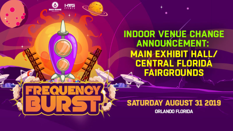Indoor Venue Change Announcement for Frequency Burst 2019