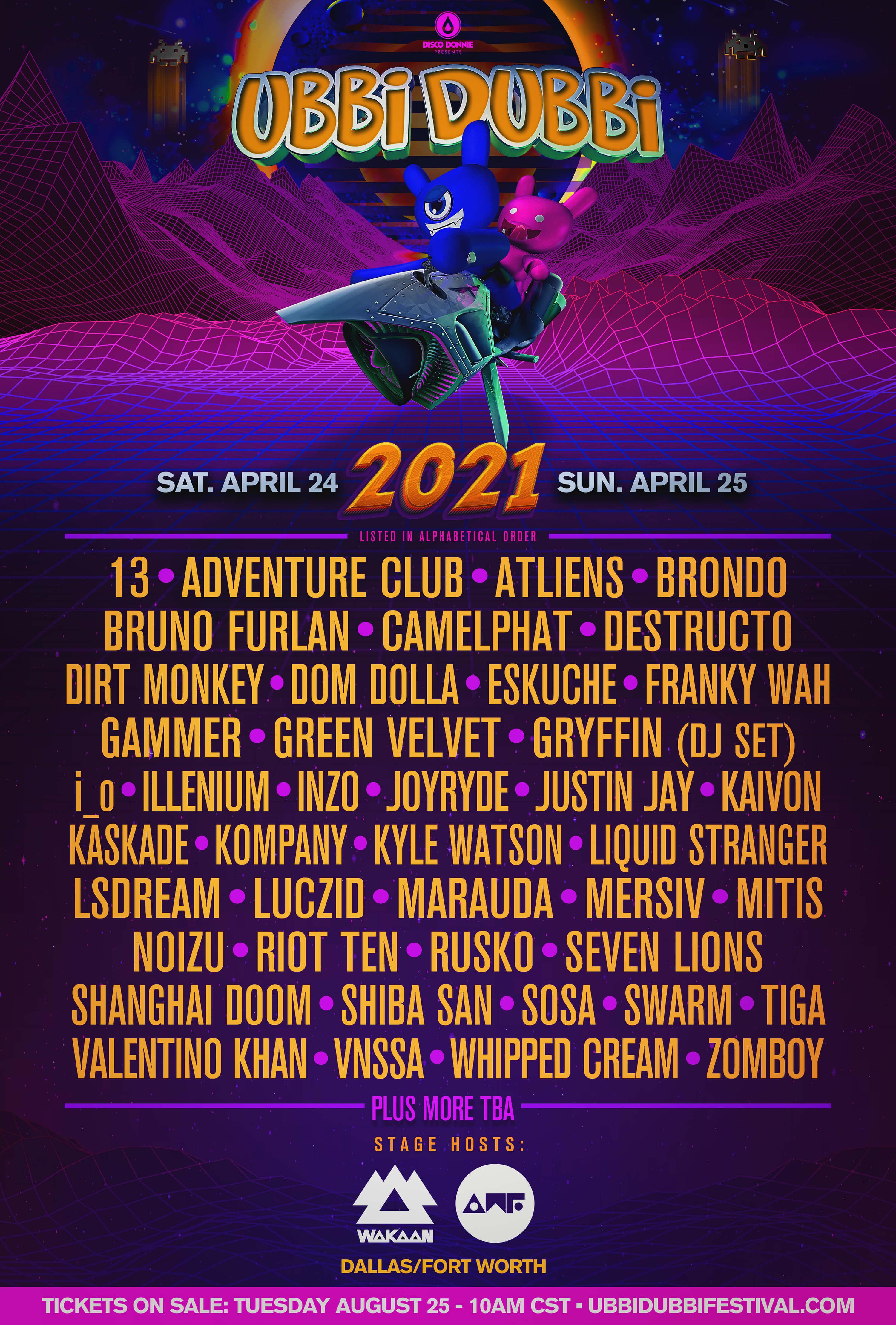 ubbi dubbi 2021 phase one lineup