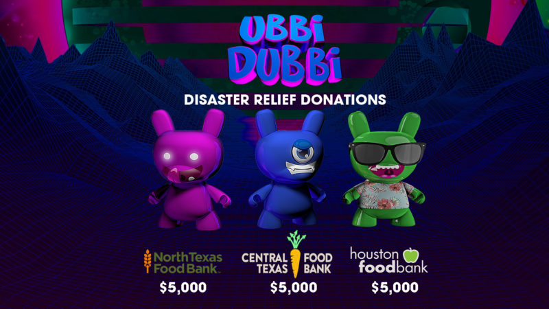 Ubbi Dubbi Donates to Texas Food Banks