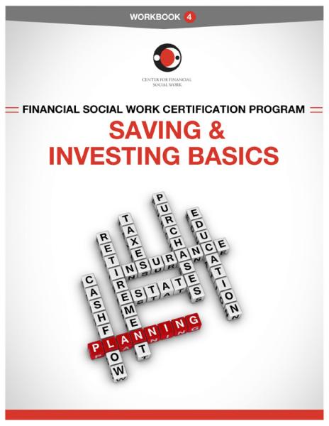 Financial Social Work Certification Program - Workbook 4 Cover