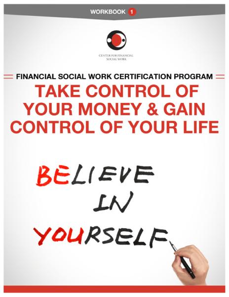 Financial Social Work Certification Program - Workbook 1 Cover