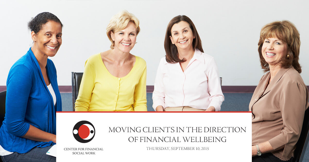 New Webinar: Moving Clients in the Direction of Financial Wellbeing