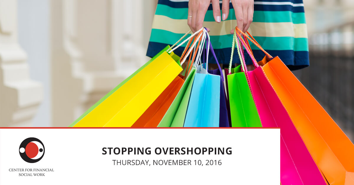 Stopping Overshopping