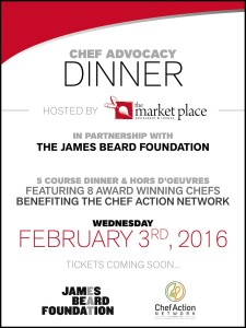 James Beard Foundation Dinner at The Market Place Restaurant