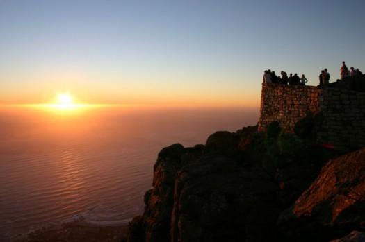 Por do sol em Cape Town