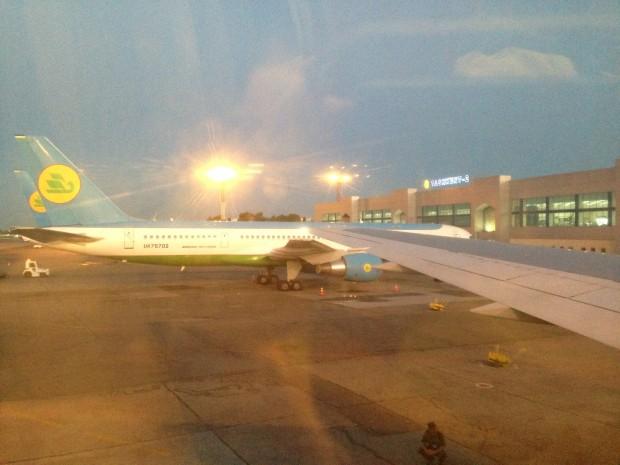 embarque em Tashkent
