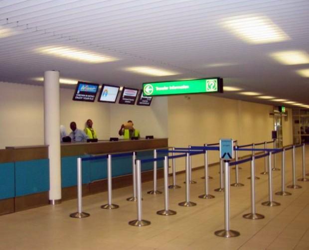 Guichê no Aeroporto Princess Juliana (SXM)