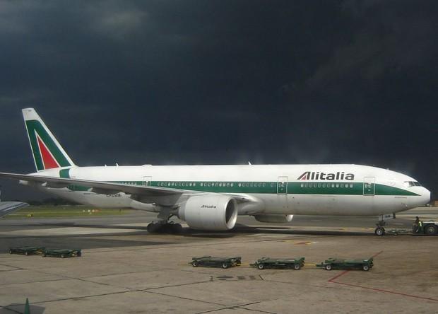 Tempo ruim pelos lados da Alitalia