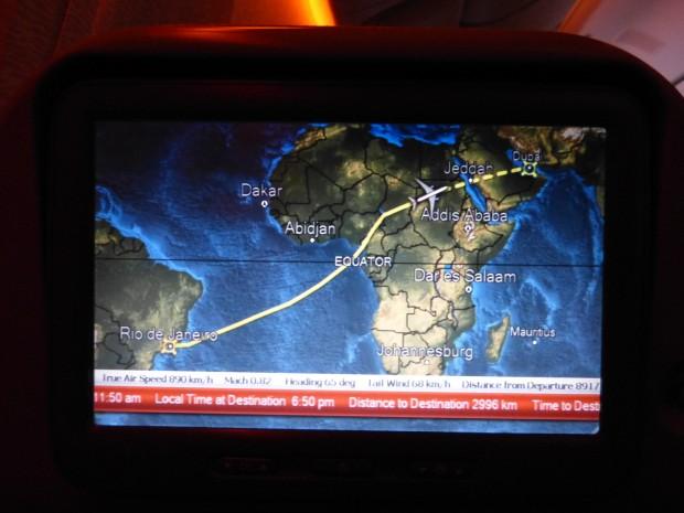 Nesta tela são exibidas informações completas sobre o voo em tempo real