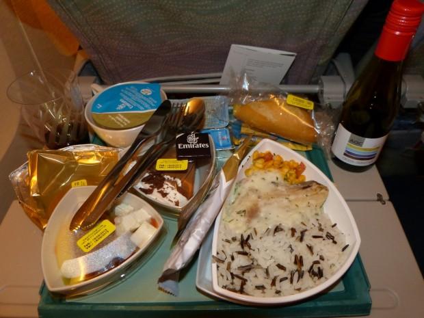 Jantar servido no voo EK-248 RIO x DUBAI
