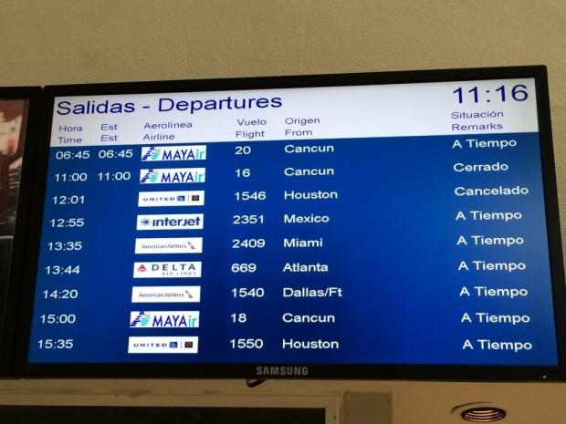 Cancelamento de um voo que tive pela United