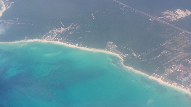 Chegando a Cancún