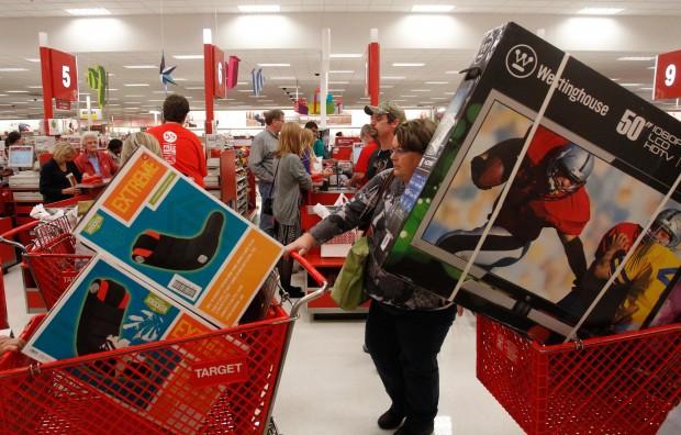 Black Friday na Target. Richard W. Rodriguez/ AP Images/Target.