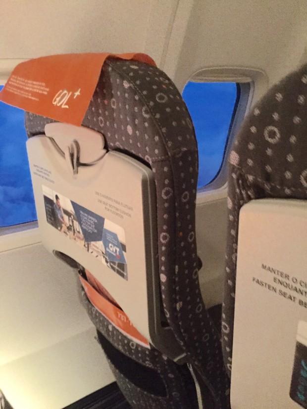 Novas poltronas foram vistas no voo de Goiânia a Congonhas