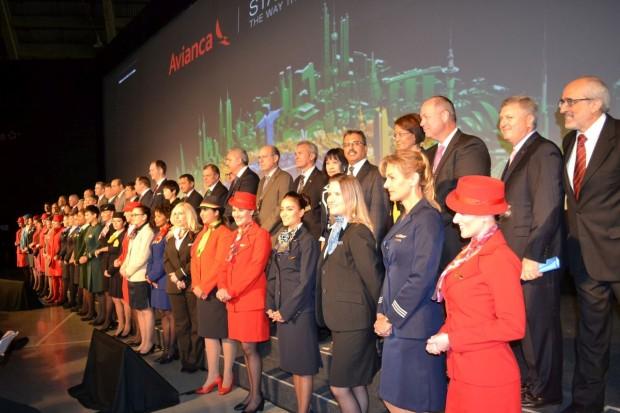 Representantes das companhias que fazem parte da Star Alliance