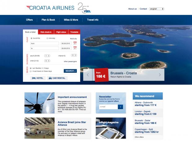 como-e-voar-croatia-airlines-website