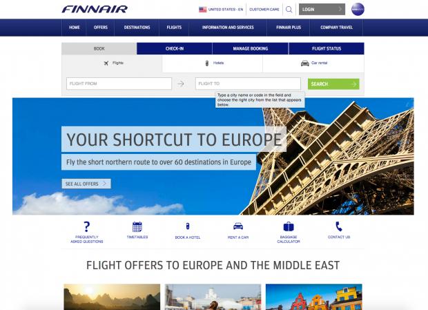 como-e-voar-finnair-website