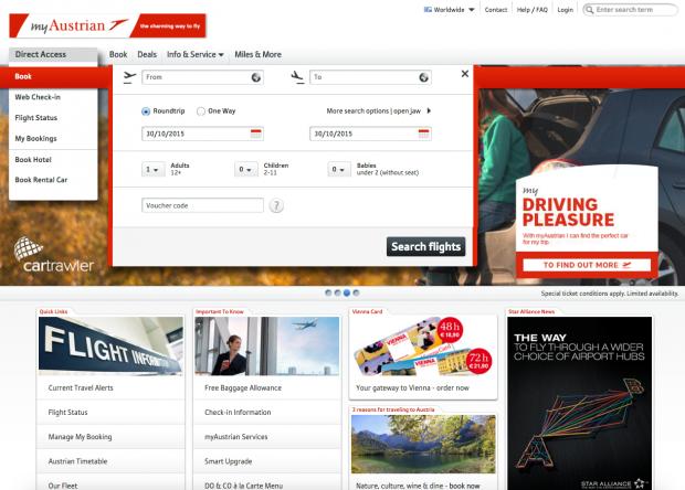 como-e-voar-austrian-airlines-website