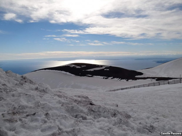 Vista do alto do vulcão Osorno
