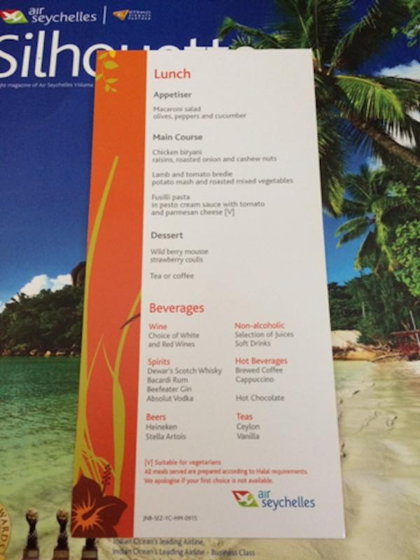 como-e-voar-air-seychelles-menu