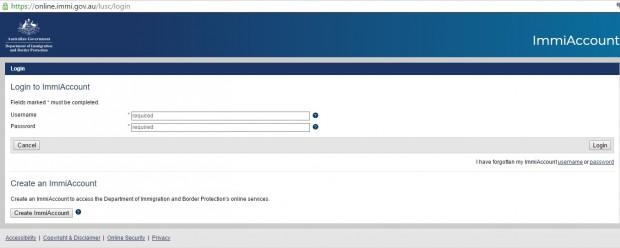 Para solicitar o visto online, é necessário se cadastrar no site do Departamento de Imigração