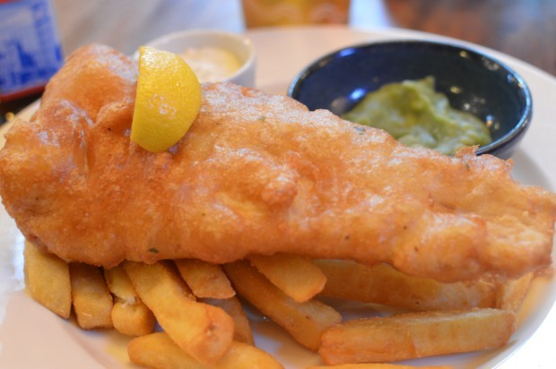 tradicional fish & chips do pub The Victoria
