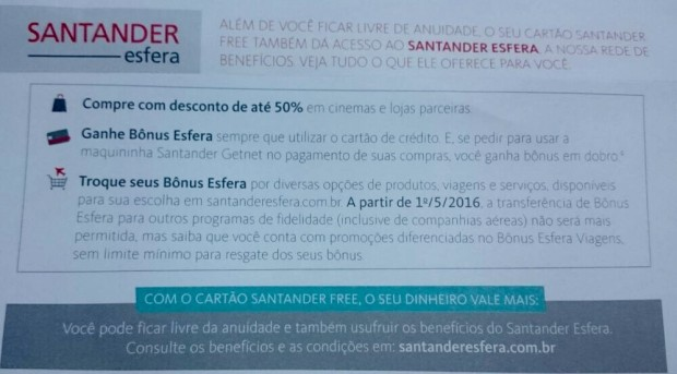 cartao-santander-free-restricao-programa-milhas