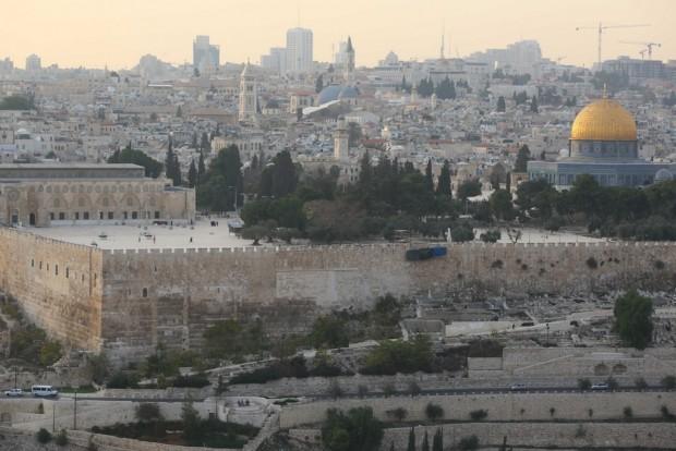 Jerusalém vista no alto do Monte das Oliveiras