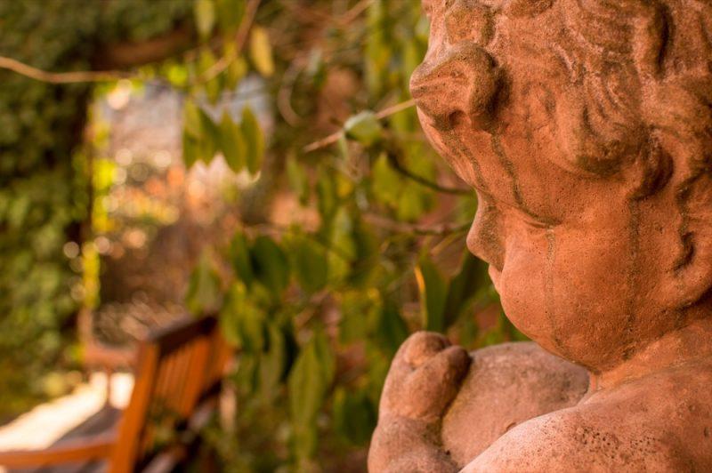 Escultura do jardim da Casa de Goethe