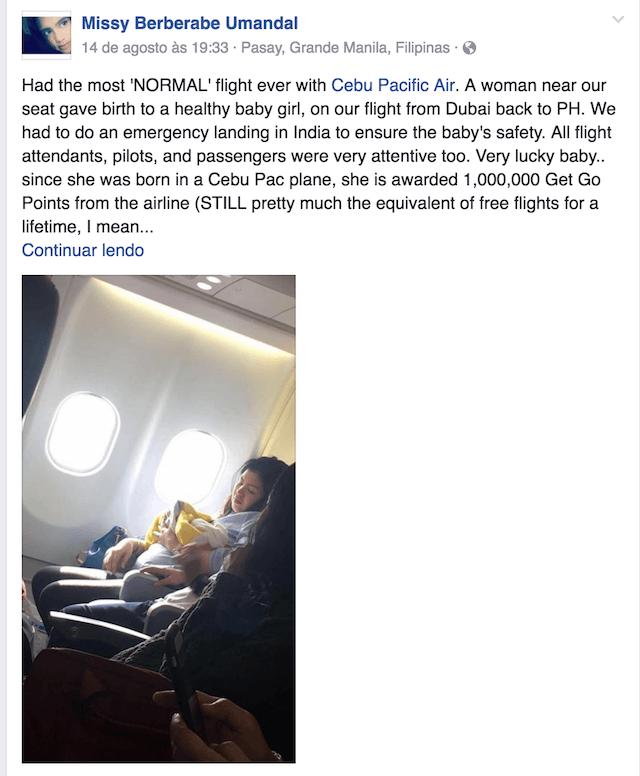 facebook-bebe-nasce-durante-voo