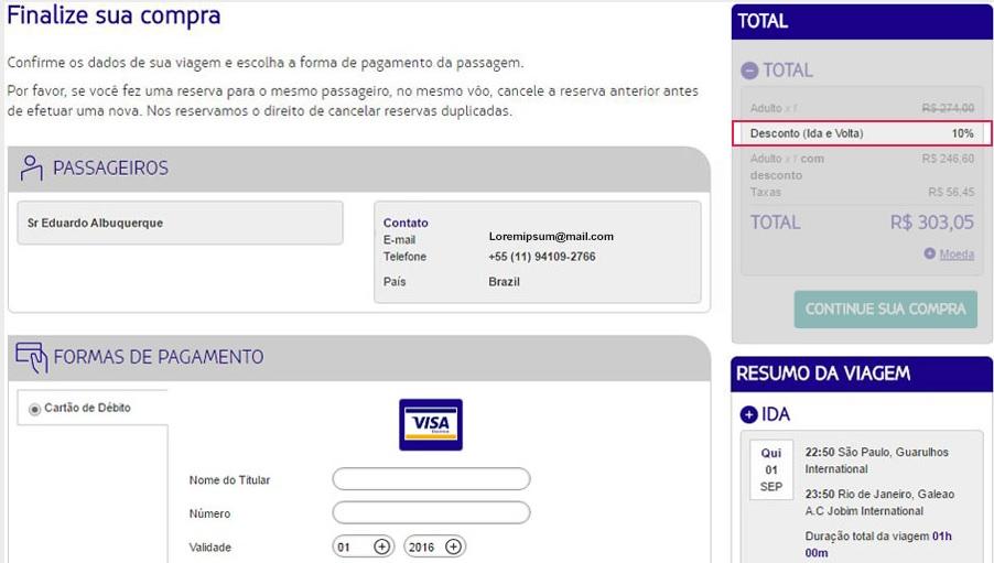 3fd64db31d5 Latam oferece 10% de desconto na compra de passagens aéreas com Visa ...