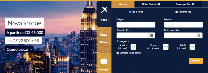 promocao-passagens-aereas-dotz