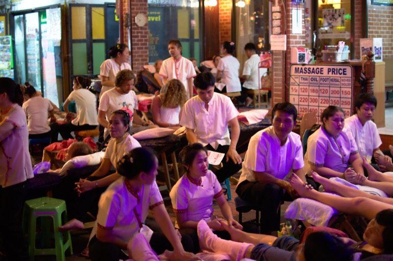 Casa de massagem na Kao San Road