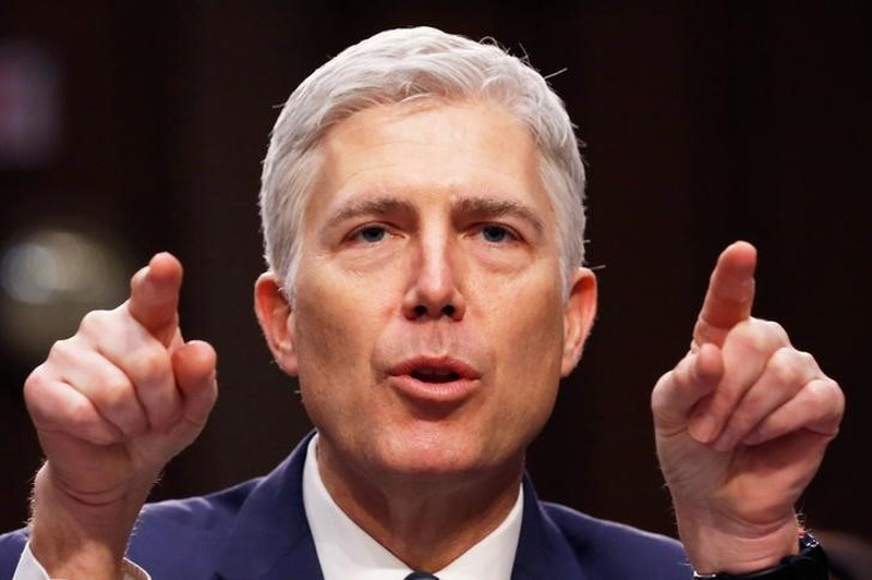 Third Democratic senator says he'll support Gorsuch