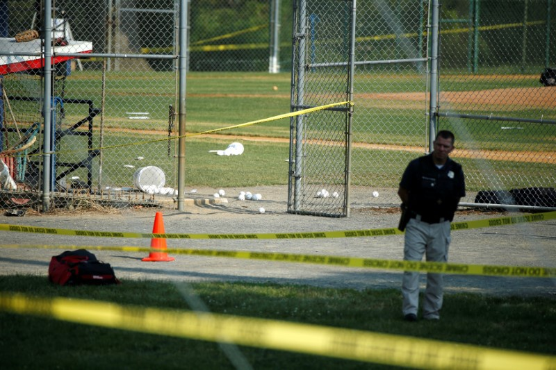 Video shows moments shots fired at Congressional baseball practice