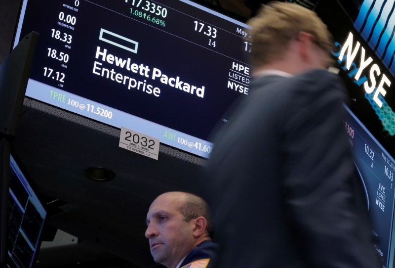 Stock Slipping in Morning Trade: Hewlett Packard Enterprise Company (NYSE:HPE)